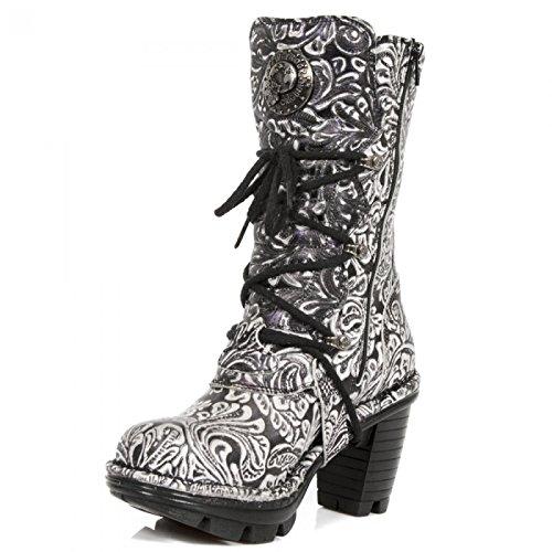 New Rock Boots M.neotr005-r32 Gotico Hardrock Punk Damen Stiefel Lila