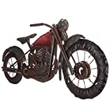 Vintage Motorcycle Metal Wall Art Vintage Galvanized Metal Indian Bike Old Rustic Wall Decor Pictures Huge Red and Black Artwork Biker Gift