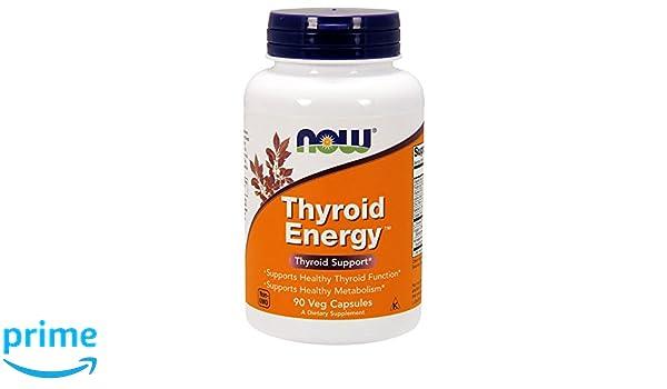 Now Foods Thyroid Energy - Energía tiroidea, sin gluten y soya, 90 cápsulas vegetales: Amazon.es: Salud y cuidado personal