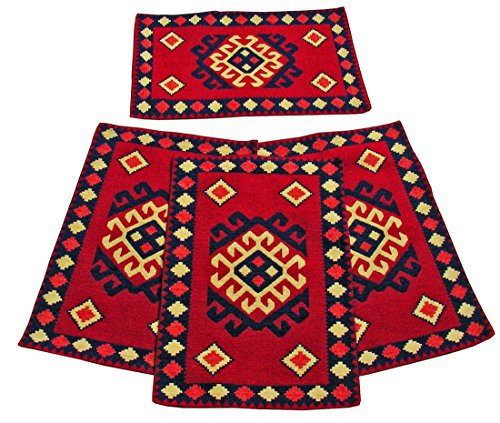 Marrakech American Southwestern Design Placemats Set Of 4 13x19 inches (Table Western Set Side)