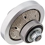3/16-Inch Radius/Half/Demi/Roundover Bull nose Diamond Router Bit/Hand Profile Grinding shaping wheel for granite marble concrete quartz fits on polisher/grinder 5/8''-11 thread counter top