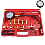 gasoline pressure tester - Bang4buck 20 Pcs 0-140 PSI Universal Fuel Injector Pressure Test Kit for Trucks, Cars, ATVs