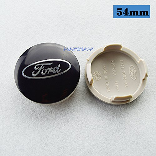 (Hanway 4 pcs black logo emblem 54mm ford Wheel Center Caps Hubcaps For FORD Focus 2 Focus 3 FIESTA Kuga FUSION ESCAPE EDGE)