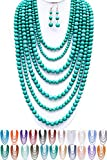 ScarvesMe JY Fashion 7 Strand Layered Bead Luxury Costume Necklace Set