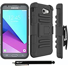 Galaxy J3 Emerge Case, MELOP Three Layer Swivel Belt Clip With Kickstand Holster Built-In Armor Case for Samsung Galaxy J3 Emerge 2017 / Express/Amp Prime 2 /Sol 2/ Eclipse / Luna Pro / J327P