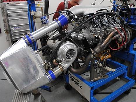 cxracing GT45 gt45r Ball Bearing Cargador de Turbo 76 mm, T4 1,15 AR + Aceite + brida: Amazon.es: Coche y moto