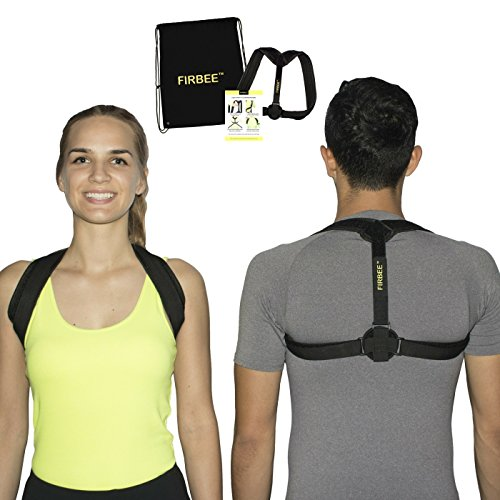 13' Pull String (Posture Corrector Brace for Women and Men | Adjustable, Comfortable and Effective Clavicle Support for Upper Back + Drawstring Backpack by Firbee)