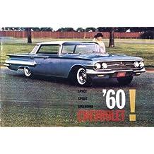1960 CHEVROLET DEALERSHIP SALES BROCHURE For Imala, Sport Coupe, Bel Air, Biscayne, Nomad, Brookwood, Parkwood and Kingswood Station Wagon