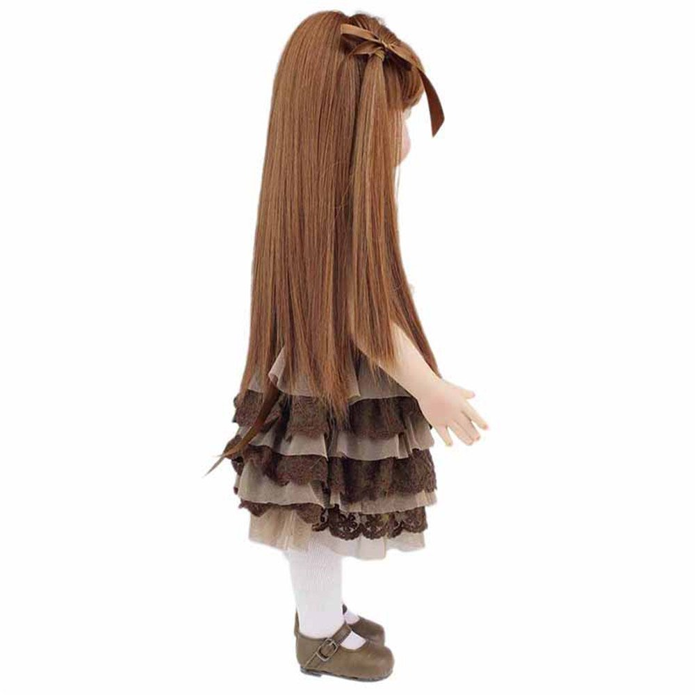 18 R/éaliste B/éb/é Poup/ée Reborn Soft Silicone 100/% /à la Main Fashion Girl Poup/ée Cheveux Longs Princesse Les Enfants d/âge 3+ Minidva Poup/ée B/éb/é Reborn RB011 EN71 Certification