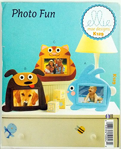 MCCALL'S KWIK SEW PATTERN PICTURE FRAME 3 ANIMALS : BUNNY RABBIT CAT DOG # K129 ##collectiblemaster by lovithanko