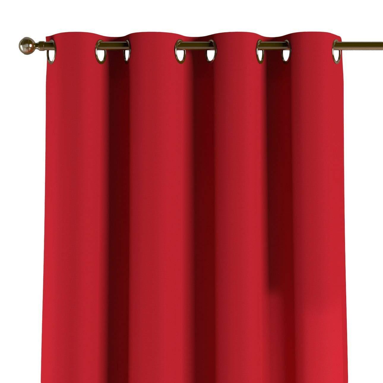 Dekoria Ösenschal Dekoschal Blickdicht 1 Stck. 130 × 260 cm rot Maßanfertigung möglich