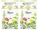 Celebration Herbals Organic Thyme Tea Caffeine Free - 2 Pack (48 Bags Total)