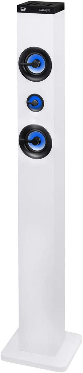 Trevi XT 101 BT soundtower Altavoz Speaker Amplificado A Torre con Radio FM, Bluetooth, MP3, USB, SD, Aux-in, Color Blanco