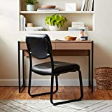 Boss Office Products Leather Sled Base Side Chair
