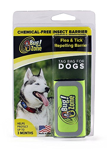 0Bug!Zone Flea and Tick Repelling Barrier Tag Bag for Dogs, Assorted Colors, Helps Protect Up to 3 Months by 0Bug!Zone