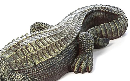 Crocodile Garden Statue- The Swamp Beast Statue Is a Perfect Garden Art- This Outdoor Animal Statue Is Handpainted, You Can Place This in Your Patio, Backyard, Lawn- A Beautiful Decor! by Design Toscano (Image #2)