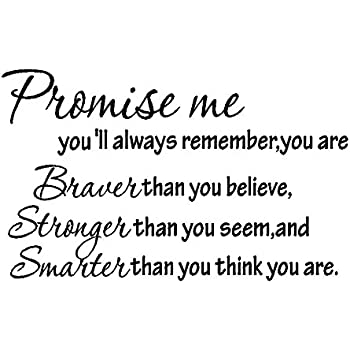 Amazoncom Promise Me Youll Always Rememberyou Are Braver Than