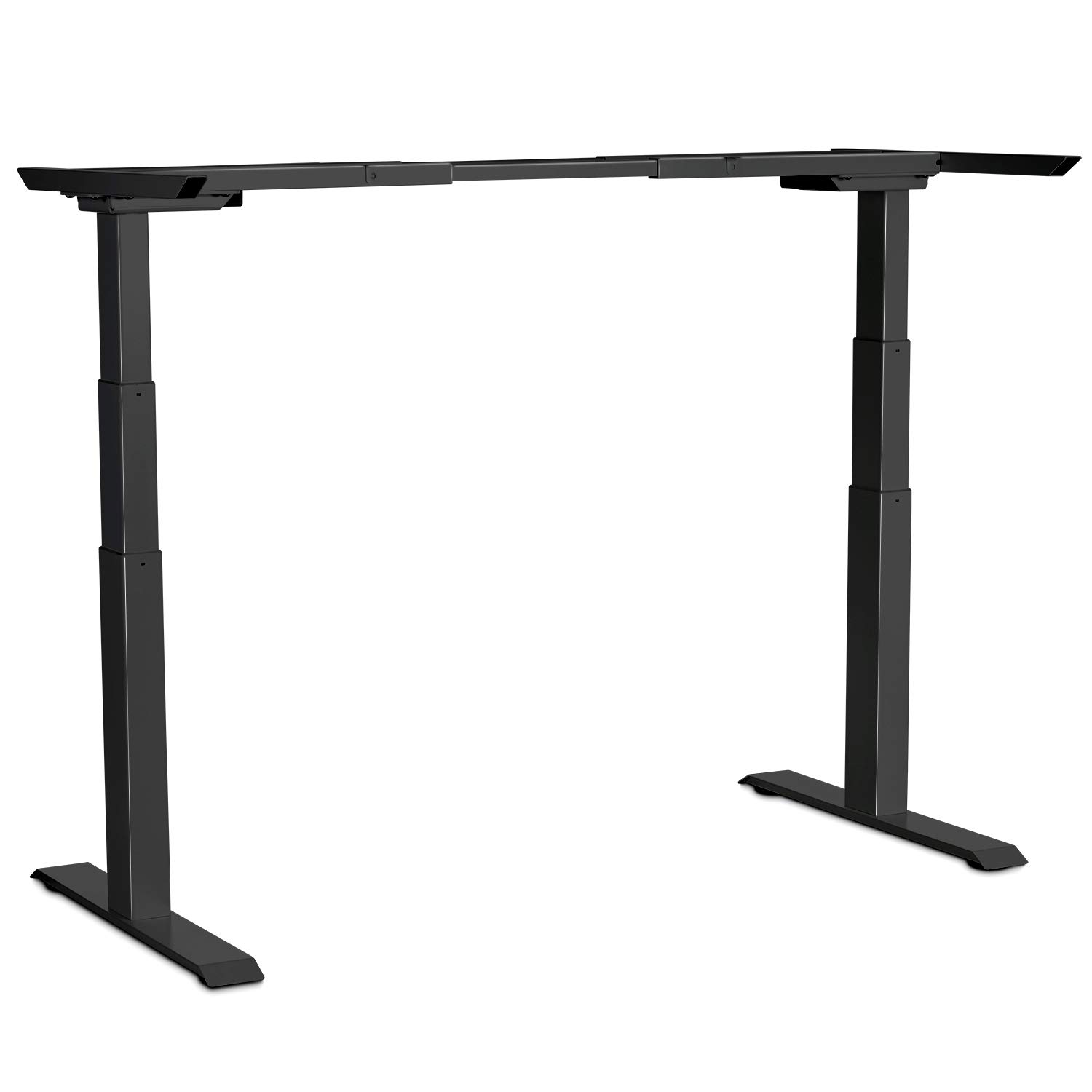 Electric Stand up Desk Frame - EleTab Dual Motor Height Adjustable Ergonomic Sit Stand Desk Base Workstation with 3 Stage up Lifting Legs (Black Frame only) by EleTab
