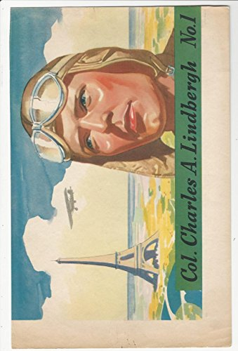 F277-5, H.J. Heinz, Famous Aviator Premium, 1937, 1 Lindbergh (trimmed)
