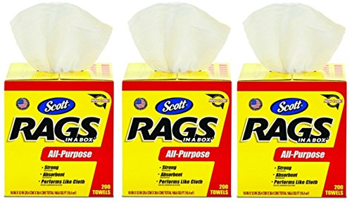 Kimberly-Clark Scott 75260 Rags in a Box, White (3 Cases of 200 Towels) by Kimberly-Clark Professional (Image #1)