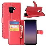 Galaxy A8 2018 Case, Fettion Premium PU Leather...