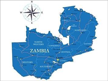Posterlounge Acrylic print 40 x 30 cm: Zambia by Editors Choice