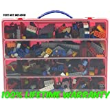 High Quality Lego Building Bricks Carrying Case - Stores Dozens Of Legos And Building Bricks - Durable Toy Storage Organizers By Life Made Better