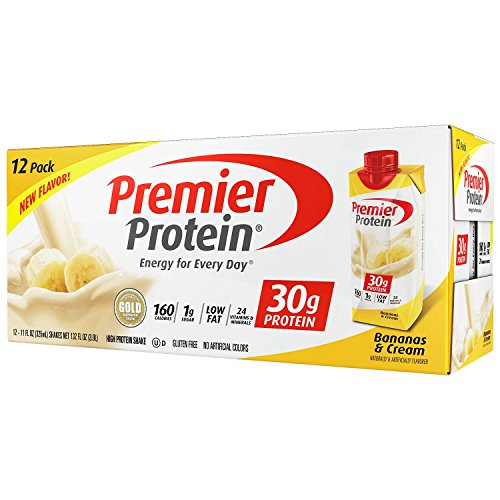 Premier Protein High Protein Shake, Bananas & Cream (11 fl. oz., 12 pack) (pack of 6) by Premier Protein
