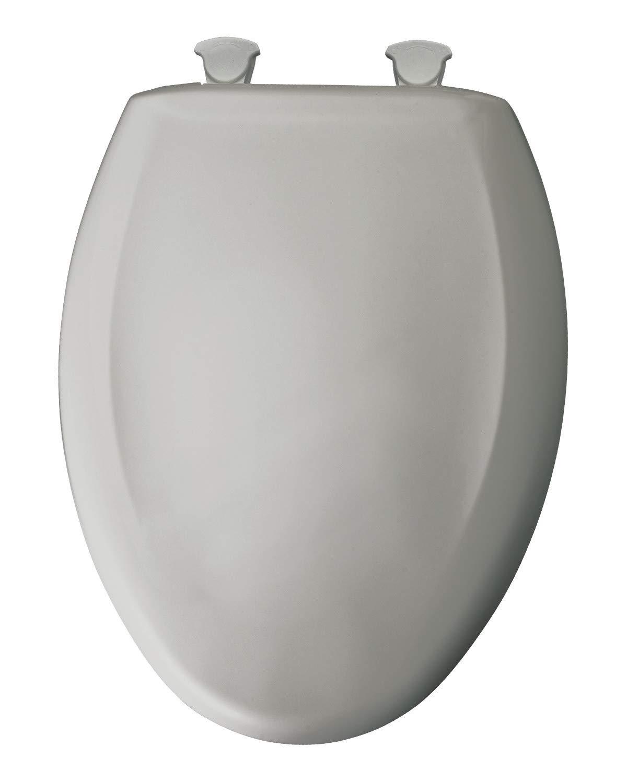 Plastic Elongated Toilet Seat Finish: Silver