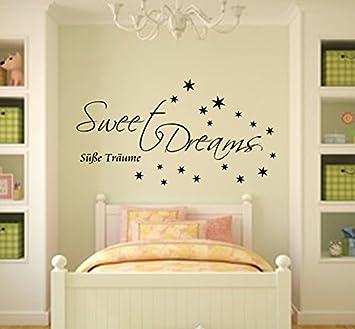 Sweet Dreams Wandtattoo Schlafzimmer Sticker für die Wand Raufaser ...