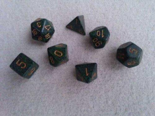trpg dice speckled polyhedral
