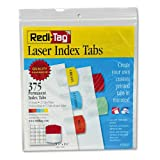 Redi-Tag : Laser Printable Index Tabs, 1 1/8w x 1 1/4h, Five Colors, 375/Pack -:- Sold as 2 Packs of - 375 - / - Total of 750 Each