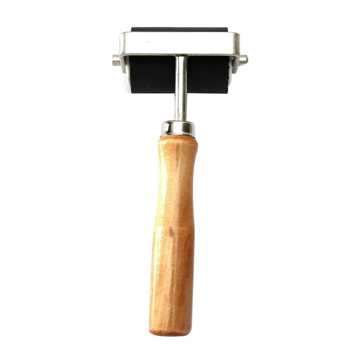 Roller de tintas - SODIAL(R)5 cm caucho duro del rodillo de impresion tintas de altas prestaciones herramienta de artesania TOOGOO SHOMAGT33536