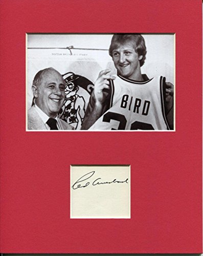 Red Auerbach Boston Celtics HOF Signed Autograph Photo Display With Larry Bird - Autographed NBA ()