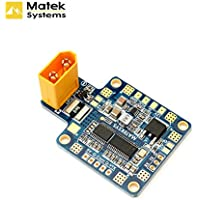 Matek PDB XT60 Power Distribution Board BEC-5V/2A 12V/0.5A with XT60 Plug for DIY Quadcopter Output Support 6 ESC for X or H Design FPV By Aokfly