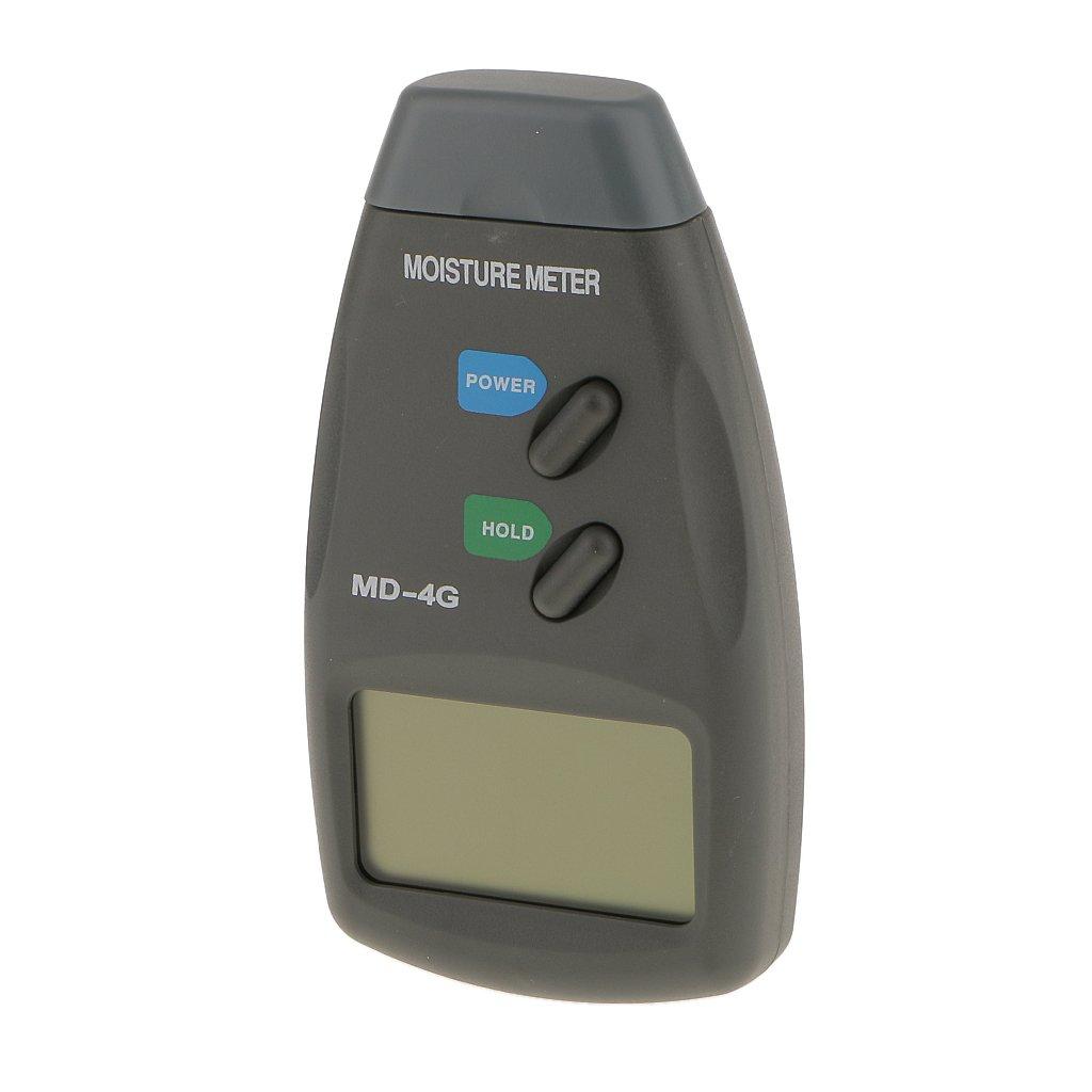 Magideal RC_51008345 4 Pin Digital LCD Wood Moisture Meter Timber Damp Detector Tester 5% 40%