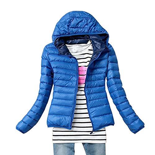 Piumino Giacca Con Donna Inverno Yihigh Corto Ultraleggeri Cappotto Cappuccio Blu Giacche Trapuntato pHInvnwqT