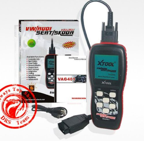 Xtool Vag401 Live Data OBD2 Auto Scanner for Vw, Audi, Seat and Skoda, VAG Code Reader, Diagnostic Scan Tool with Oil Reset, Airbag Reset and Actuation test Function, ABS SRS Engine Trouble Code OBD2 Reader (Vag Vehicle)