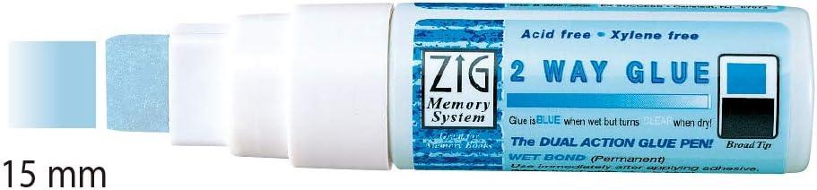 Chisel Tip 15 mm 2 Packs of Kuretake Zig 2 Way Crafting Glue Pen