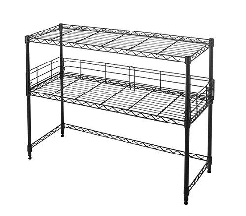 Suprima Desktop Carbon Steel Black Bookshelf