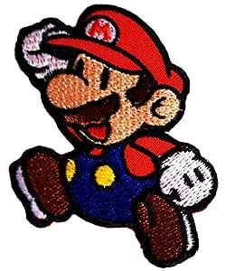 Super Mario Bros Mario de Super Mario Videojuegos Comic Patch Kids '6.5 x 8 cm'- Parche Parches Termoadhesivos Parche Bordado Parches Bordados Parches Para La Ropa Parches La Ropa Termoadhesivo Apliques Iron on Patch Iron-On Apliques