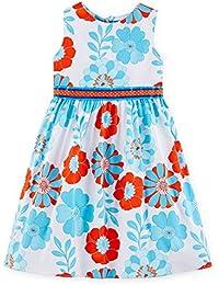 Girls Dressy Aqua / Orange Floral Sundress (4-6x)