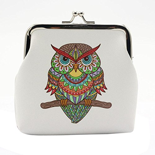 Womail Women Fashion Owl Elephant Mini Retro Vintage Leather Hasp Handbags Boy ID Credit Card Coin Holder Wallet - Credit Measurement Card