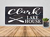 Cheap Custom Lake House Family Name Rustic Wooden Sign