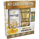 Kit Shampoo Pantene Hidratação 400ml + Condicionador 3 Minutos Milagrosos + Ampola 15ml