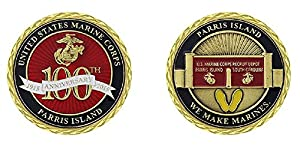 US Marine Corps Parris Island Challenge Coin