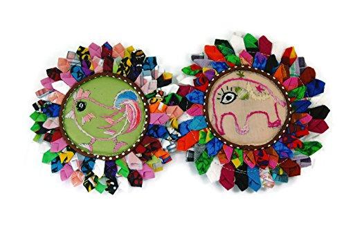 (BestByByrd Animal Hand Stitched Round Shape Coaster 5