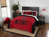 NC State Wolfpack - 3 Piece FULL / QUEEN SIZE Printed Comforter & Shams - Entire Set Includes: 1 Full / Queen Comforter (86'' x 86'') & 2 Pillow Shams - NCAA College Bedding Bedroom Accessories