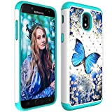 Galaxy J7 2018 Case, Dooge Bling Sparkly Diamond Case Dual Layer Full Body Armor Defender Anti-Scratch Shockproof Protective Rugged Holster Case for Galaxy J7 (SM-J737 2018 Release)