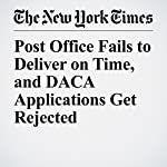 Post Office Fails to Deliver on Time, and DACA Applications Get Rejected | Liz Robbins